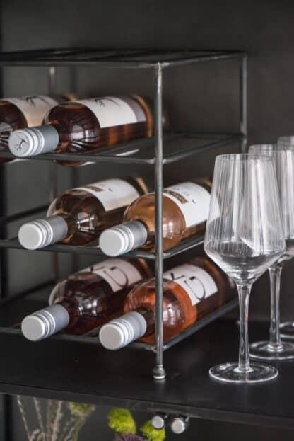 Vinreol til 12 flasker